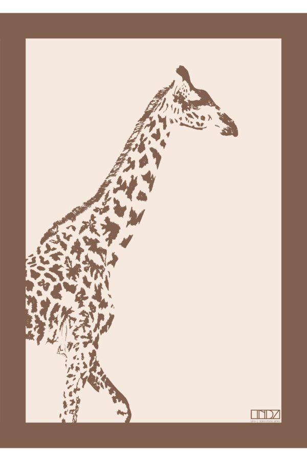 """Poster Collection """"Africa"""" Giraffe im Grafik Design von design-vie.at in Wien"""