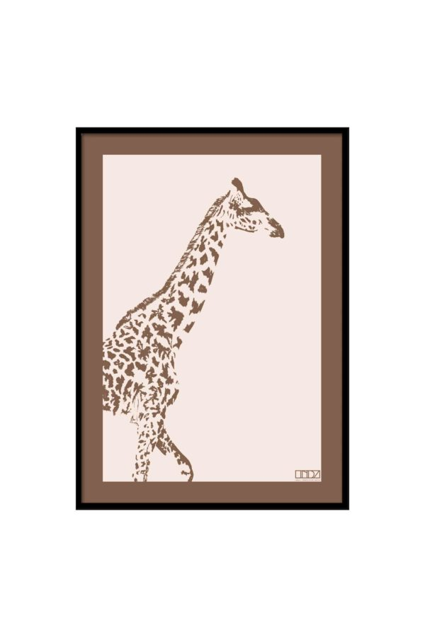 "Poster Collection ""Africa"" Giraffe im Grafik Design von design-vie.at in Wien"