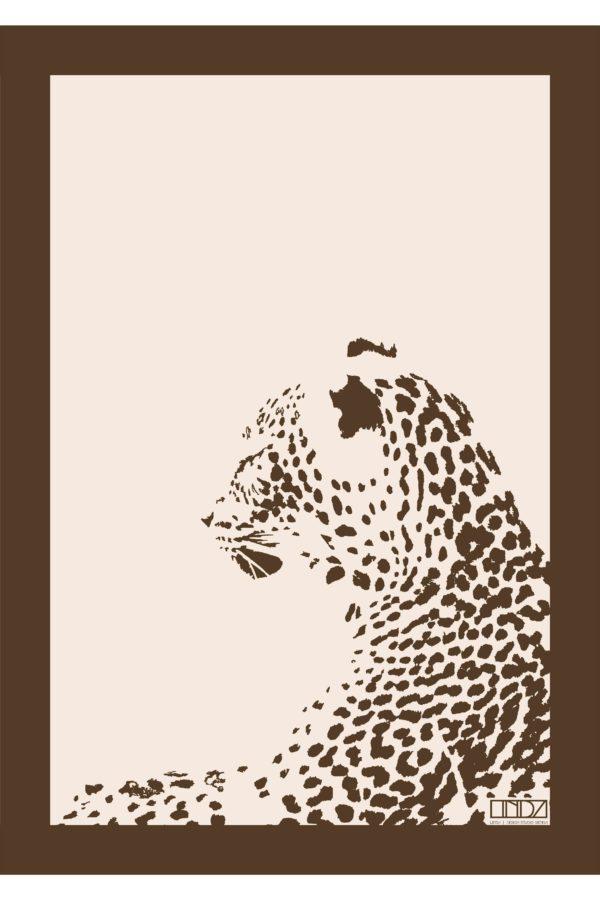 """Poster Collection """"Africa"""" Leopard im Grafik Design von design-vie.at in Wien"""
