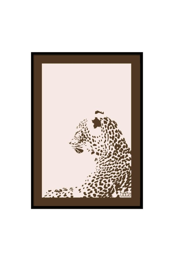 "Poster Collection ""Africa"" Leopard im Grafik Design von design-vie.at in Wien"