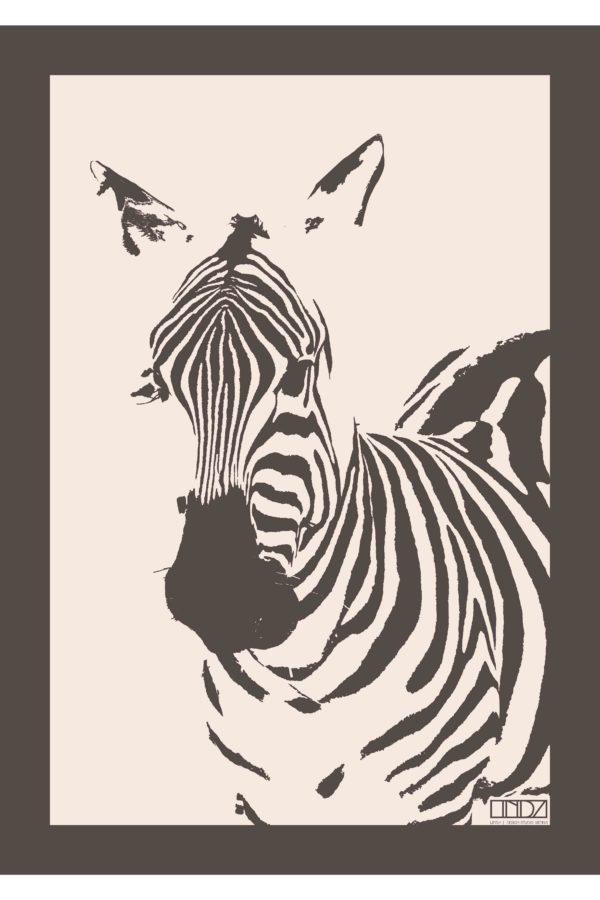 """Poster Collection """"Africa"""" Zebra im Grafik Design von design-vie.at in Wien"""