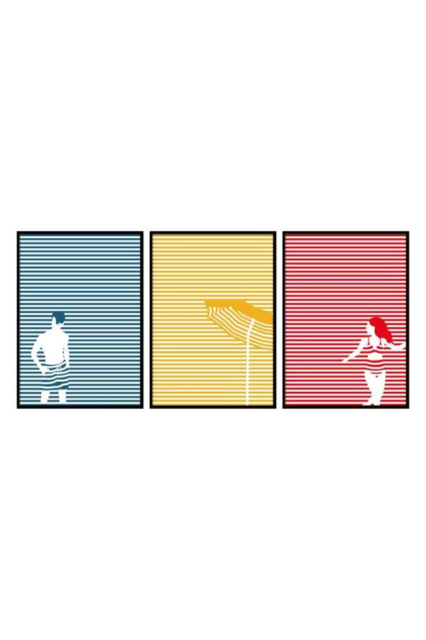 """Poster Collection """"Beach"""" im Grafik Design von design-vie.at in Wien"""