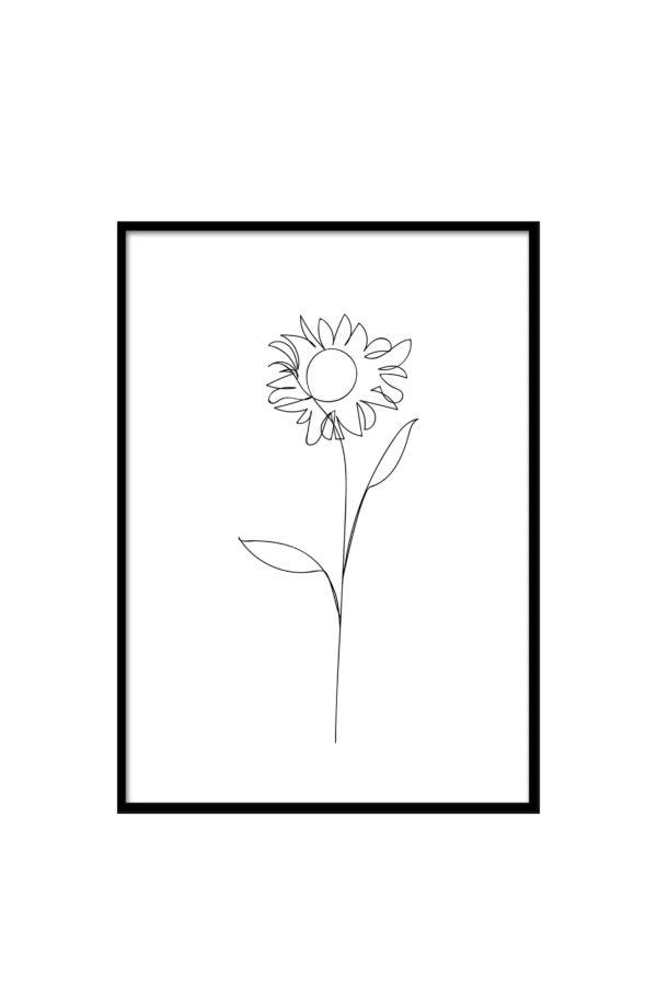Flower Poster im Minmalistic Grafik Design bei 3DDC.com in Wien