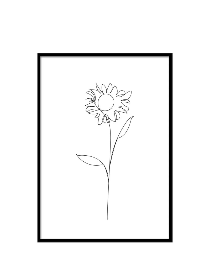 Postercollection Lineart Flowers
