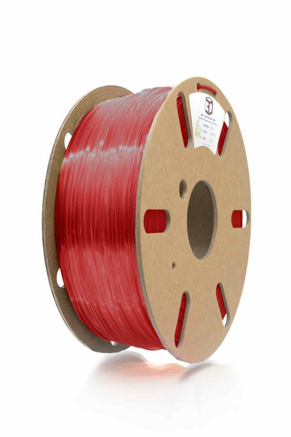 3D Filament clear red PETG von 3DDC