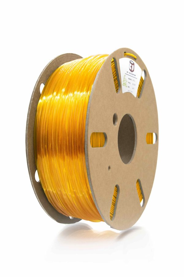 3D Filament clear yellow PETG von 3DDC